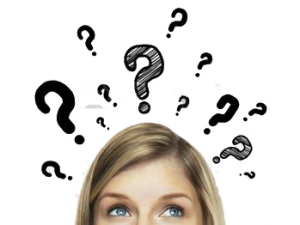 16883291 thinking women with question mark on white background 300x225 - HỎI& ĐÁP VỀ BÀI IELTS READING