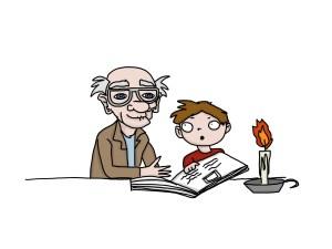 grandfather and sean candle BY MEGAN ARCHER THE REAL HALLOWEEN copy - Cách dùng mệnh đề quan hệ để đạt điểm IELTS - 2